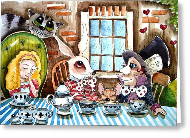 More tea Greeting Card by Lucia Stewart