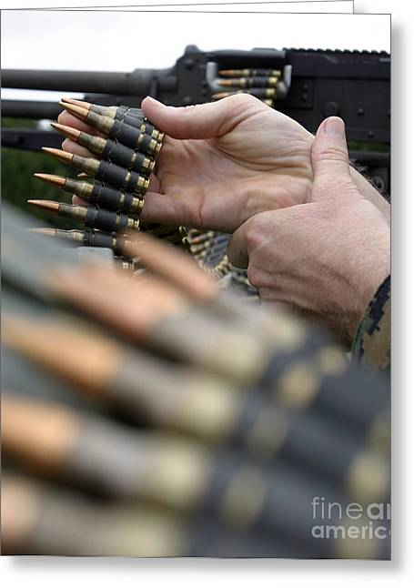 General Purpose Machine Guns Greeting Cards - More Than 3,000 Rounds Were Fired Greeting Card by Stocktrek Images