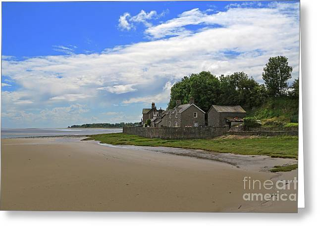 Best Sellers -  - Tidal Photographs Greeting Cards - Morecambe Bay Greeting Card by Louise Heusinkveld