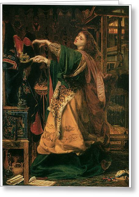 Morgan-le-fay Greeting Card by Frederick Sandys