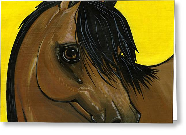 Horse Breed Greeting Cards - Morgan Greeting Card by Leanne Wilkes