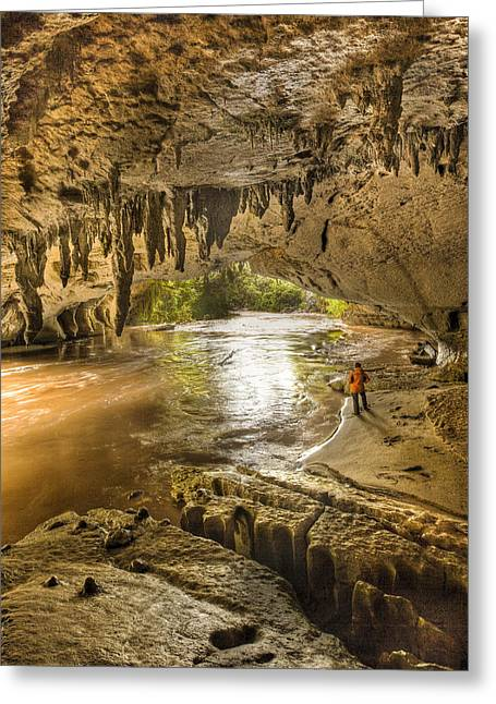 Recently Sold -  - Geology Photographs Greeting Cards - Moria Gate Arch And Oparara River Greeting Card by Colin Monteath