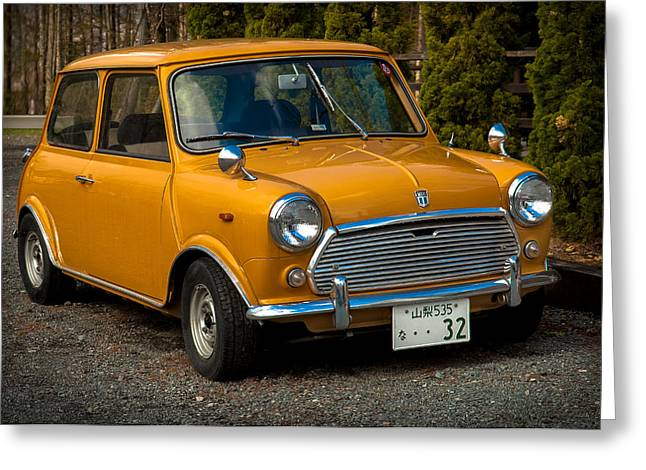 Cars Photographs Greeting Cards - Moris Mini Cooper Greeting Card by Sebastian Musial