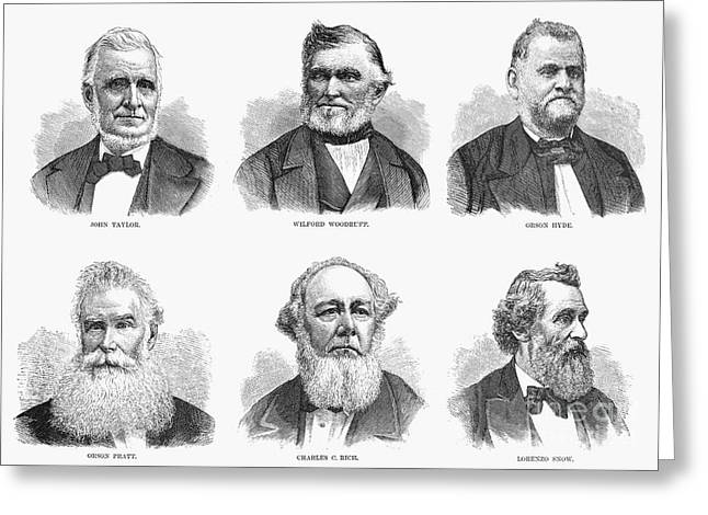 Bowtie Greeting Cards - Mormon Apostles, 1877 Greeting Card by Granger
