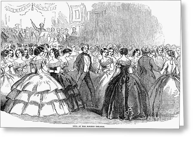 Ball Gown Greeting Cards - Mormon Ball, 1857 Greeting Card by Granger