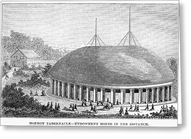 Mormon Tabernacle Greeting Cards - Mormon Tabernacle, 1870 Greeting Card by Granger