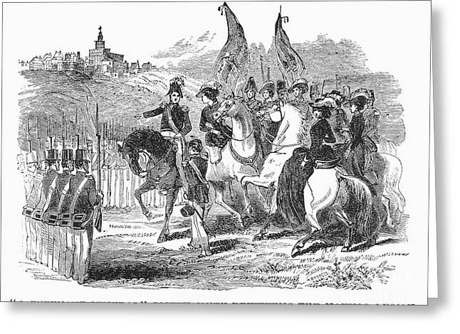 Sidesaddle Greeting Cards - MORMONS AT NAUVOO, 1840s Greeting Card by Granger
