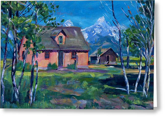 Mountain Valley Paintings Greeting Cards - Mormons Row Greeting Card by David Lloyd Glover