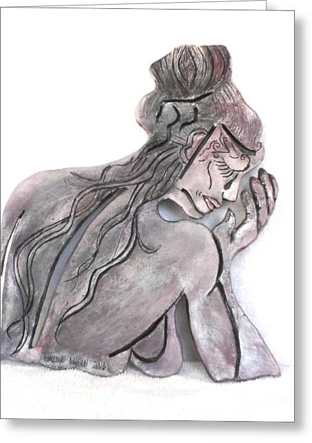 Wall Sculpture Sculptures Sculptures Greeting Cards - Morning Angel Greeting Card by Wayne Niemi