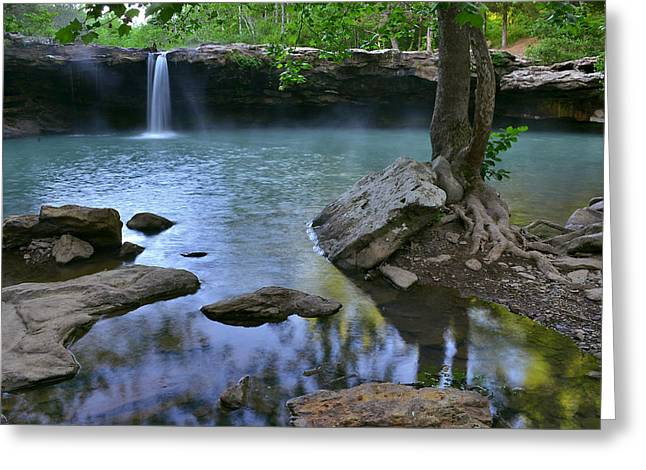 Richland Creek Wilderness Greeting Cards - Morning at Falling Water Falls Greeting Card by Jeff Rose