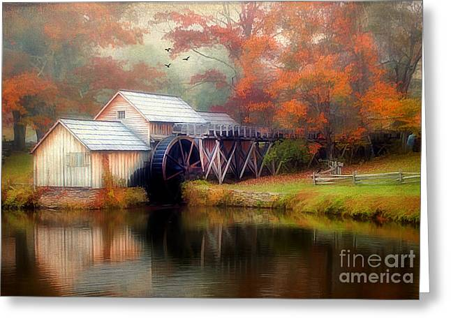 Reminiscent Greeting Cards - Morning at the Mill Greeting Card by Darren Fisher