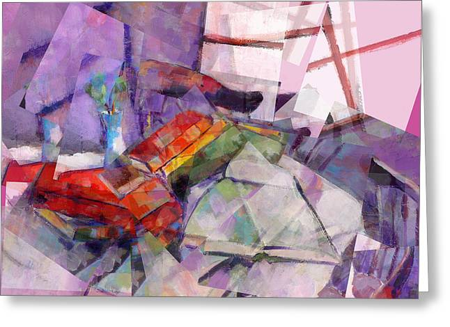 Transfer Paintings Greeting Cards - Morning Before the Bar Greeting Card by J Christian Sajous