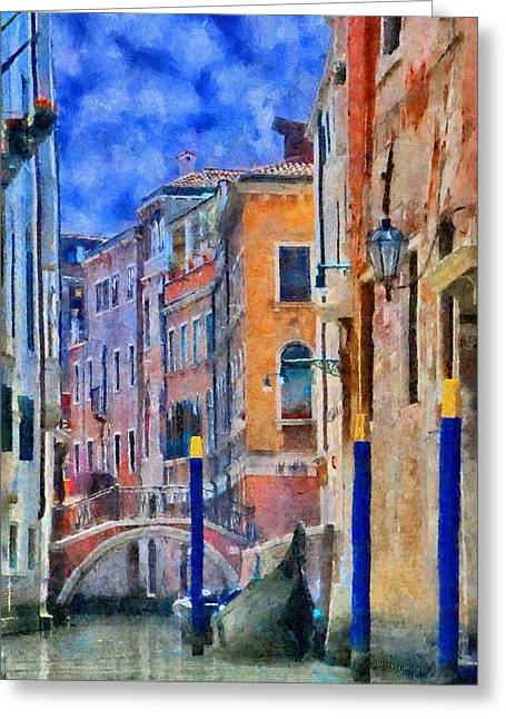 Canals Greeting Cards - Morning Calm in Venice Greeting Card by Jeff Kolker