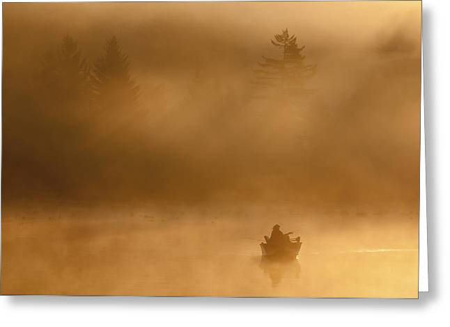 Morning Catch Greeting Card by Joseph Rossbach