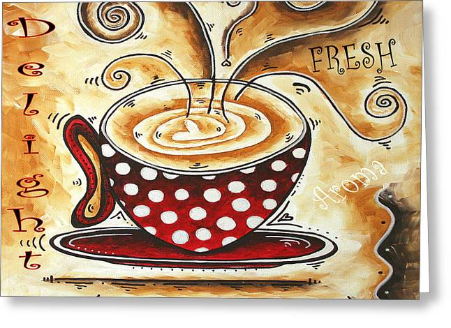 Whimsical Mixed Media Greeting Cards - Morning Delight Original Painting MADART Greeting Card by Megan Duncanson