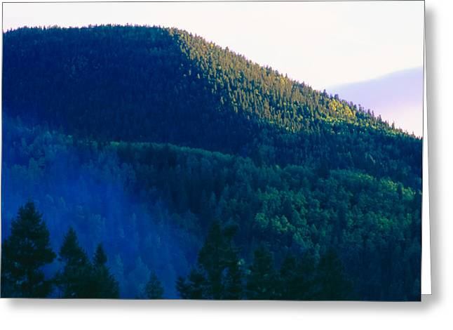 Taos Greeting Cards - Morning Fog Taos County NM Greeting Card by Troy Montemayor