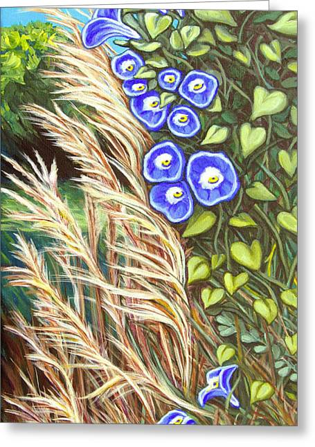 Morning Glory Greeting Card by Carol OMalley