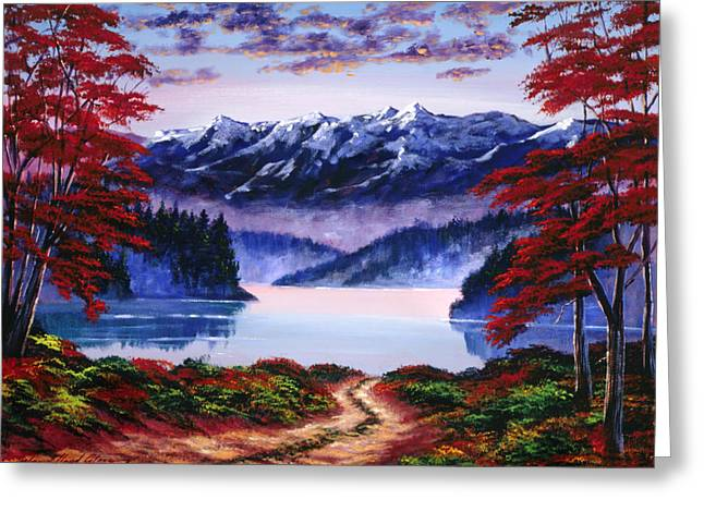 Mountain Road Greeting Cards - Morning Glory Greeting Card by David Lloyd Glover