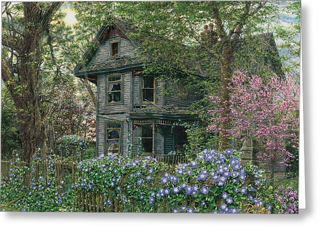 Morning Glory Greeting Card by Doug Kreuger