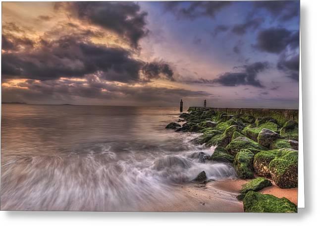 Beach Stones. Colorful Rocks Greeting Cards - Morning Glory Greeting Card by Evelina Kremsdorf