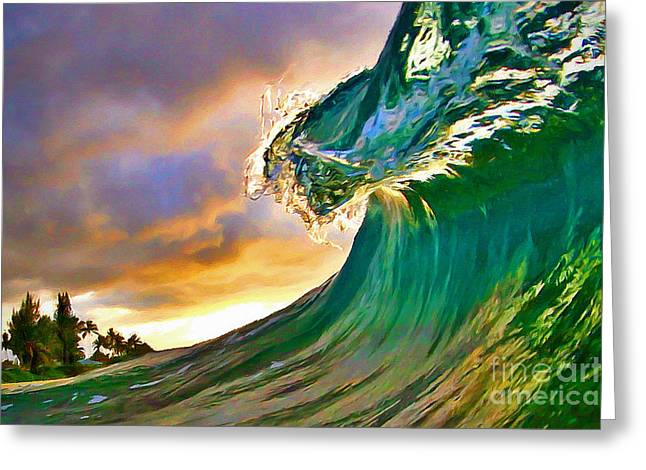 Ocean Shore Greeting Cards - Morning Glow Greeting Card by Paul Topp