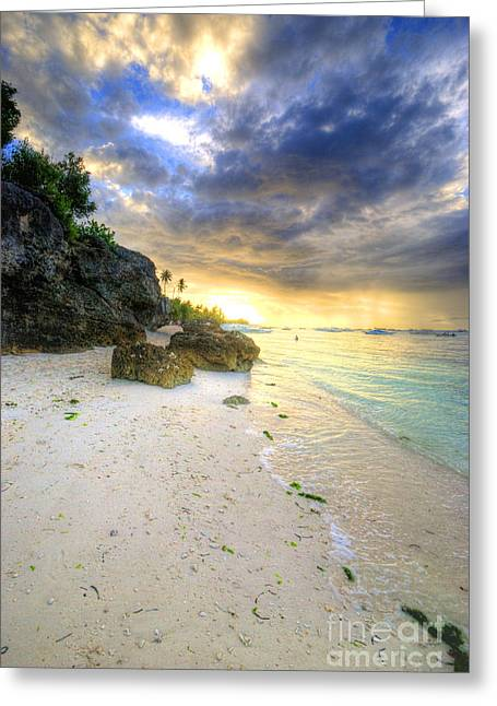 Recently Sold -  - Beach Photography Greeting Cards - Morning Glow Greeting Card by Yhun Suarez