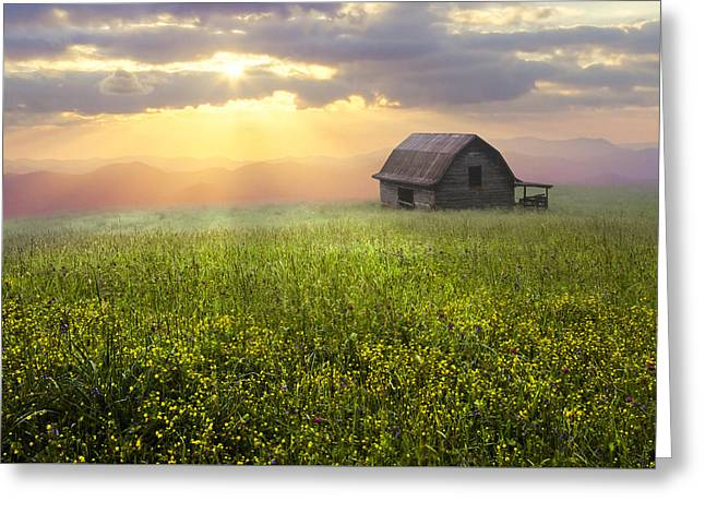 Recently Sold -  - Tennessee Barn Greeting Cards - Morning Has Broken Greeting Card by Debra and Dave Vanderlaan