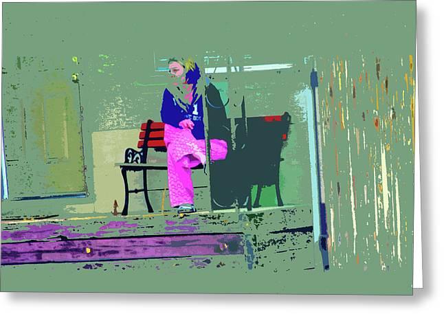 Pajamas Greeting Cards - Morning in Her Pink Pajamas Greeting Card by Lenore Senior