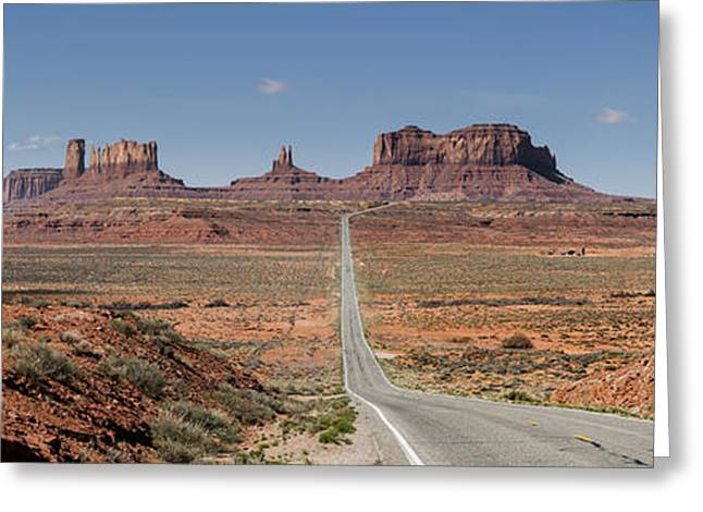 Monolith Greeting Cards - Morning in Monument Valley Greeting Card by Sandra Bronstein