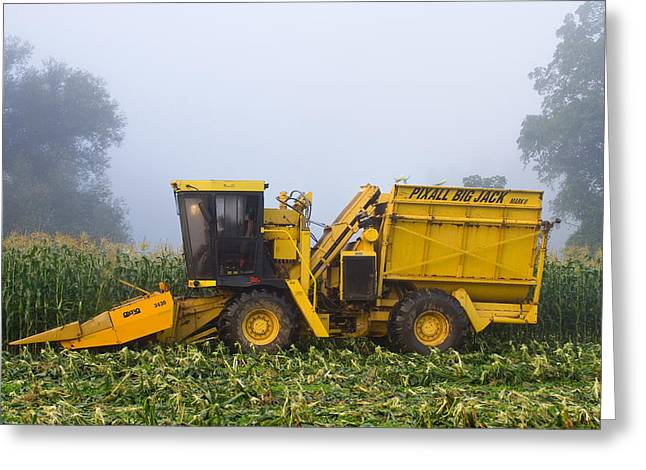 Sweet Corn Picker Greeting Cards - Morning in Muranyis Greeting Card by Tim  Fitzwater