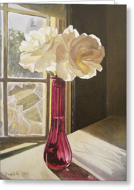 Broken Vase Greeting Cards - Morning Light 1 Greeting Card by Kathryn Donatelli