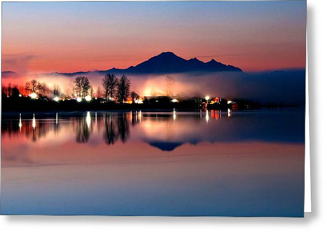 Morning Light And Fog Greeting Card by Detlef Klahm