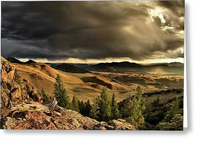 Altitude Greeting Cards - Morning Light and Thunder Shower Greeting Card by Leland D Howard