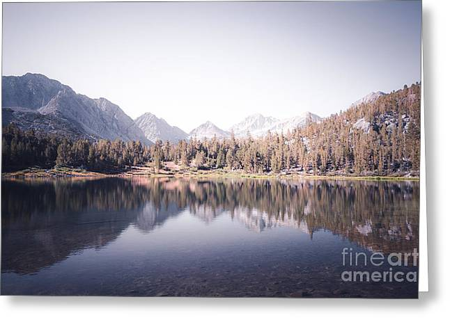 Trees Reflecting In Water Greeting Cards - Morning Light at Heart Lake Greeting Card by Alexander Kunz