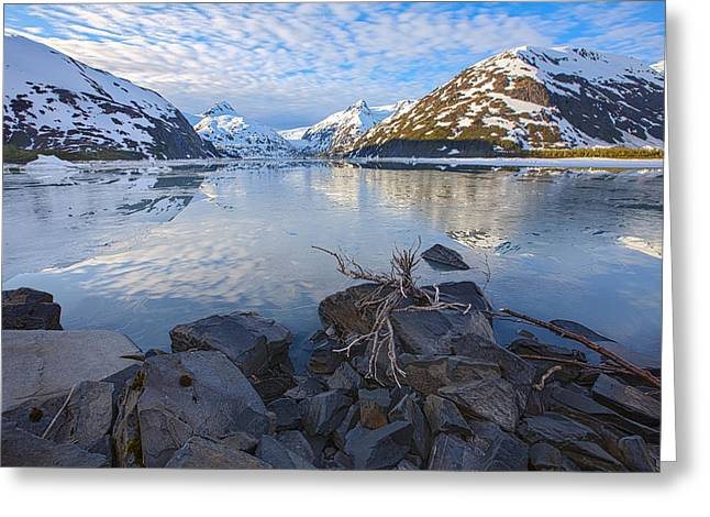 Portage Photographs Greeting Cards - Morning Light at Portage Lake Greeting Card by Tim Grams