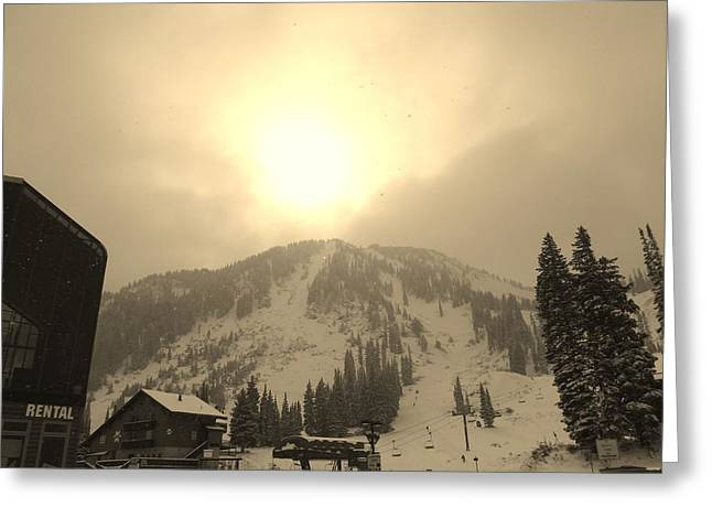 Ski Art Greeting Cards - Morning Light Greeting Card by Michael Cuozzo