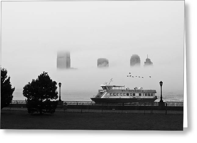 Newyorkcity Greeting Cards - Morning Mist Greeting Card by Brad Morgan
