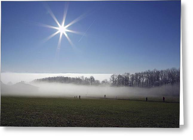 Morning Mist Greeting Card by Dr Juerg Alean
