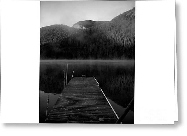 Bulls Pyrography Greeting Cards - Morning on Bull Lake Greeting Card by Lori Feagan