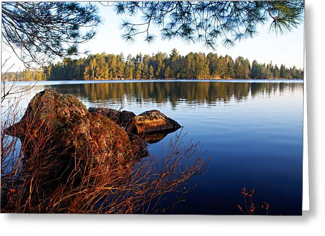 Lhr Images Greeting Cards - Morning on Chad Lake 2 Greeting Card by Larry Ricker