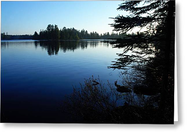 Lhr Images Greeting Cards - Morning on Chad Lake Greeting Card by Larry Ricker