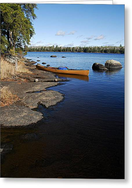 Boundary Waters Canoe Area Wilderness Greeting Cards - Morning on Hope Lake Greeting Card by Larry Ricker