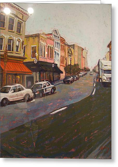 Charleston Pastels Greeting Cards - Morning on King Street Charleston SC II Greeting Card by Hillary Gross