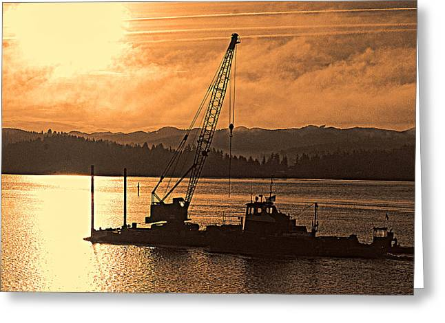 Dredge Greeting Cards - Morning on the Bay Greeting Card by Dale Stillman