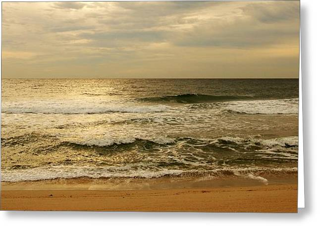 Sea. Morning Greeting Cards - Morning On The Beach - Jersey Shore Greeting Card by Angie Tirado