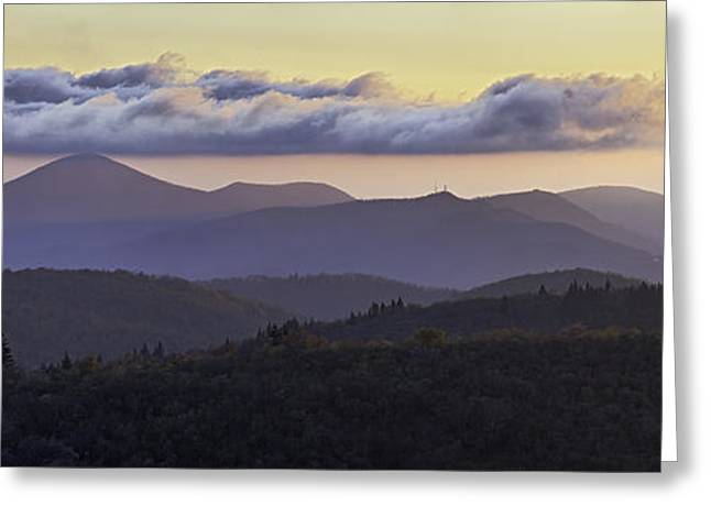 Morning on the Blue Ridge Parkway Greeting Card by Rob Travis