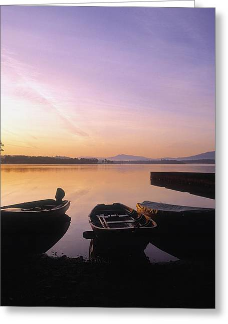 Union Square Greeting Cards - Morning Over Lough Leane, Killarney, Co Greeting Card by The Irish Image Collection