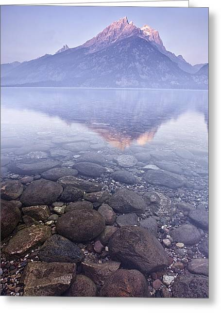 Mountains Greeting Cards - Morning Reflection  Greeting Card by Andrew Soundarajan
