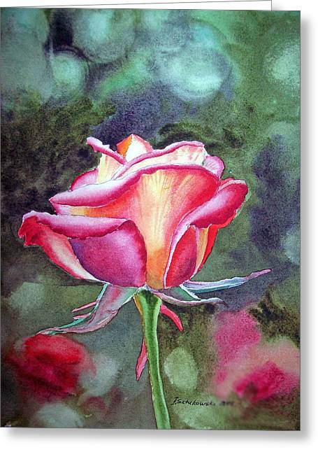 Rose Prints Greeting Cards - Morning Rose Greeting Card by Irina Sztukowski