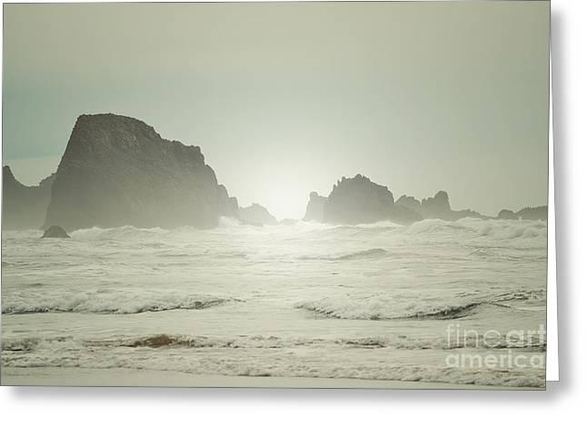 Haystack Framed Prints Greeting Cards - Morning Shore Greeting Card by Andrea Hazel Ihlefeld